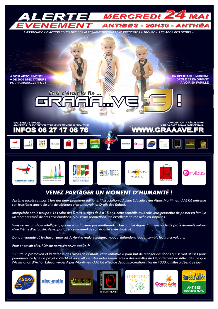 GRAAVE spectacle musical gratuit à Antibes