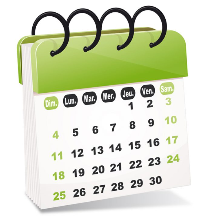 Le calendrier scolaire – Année scolaire 2018-2019