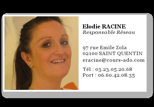elodie racine, responsable réseau Cours Ado