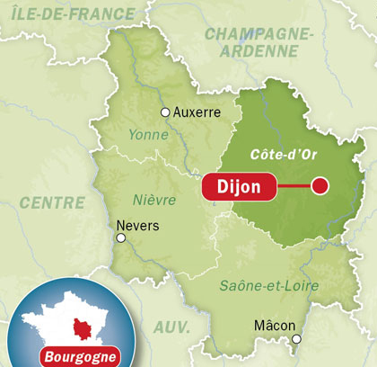 Carte Dijon