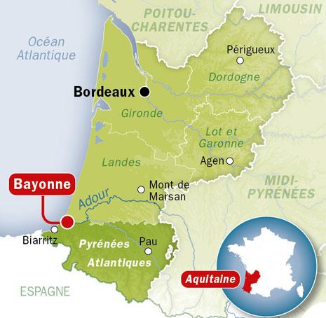 carte Bayonne