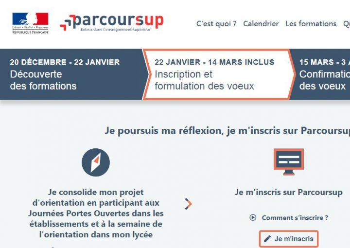 (Français) Parcoursup : derniers jours pour formuler vos voeux !
